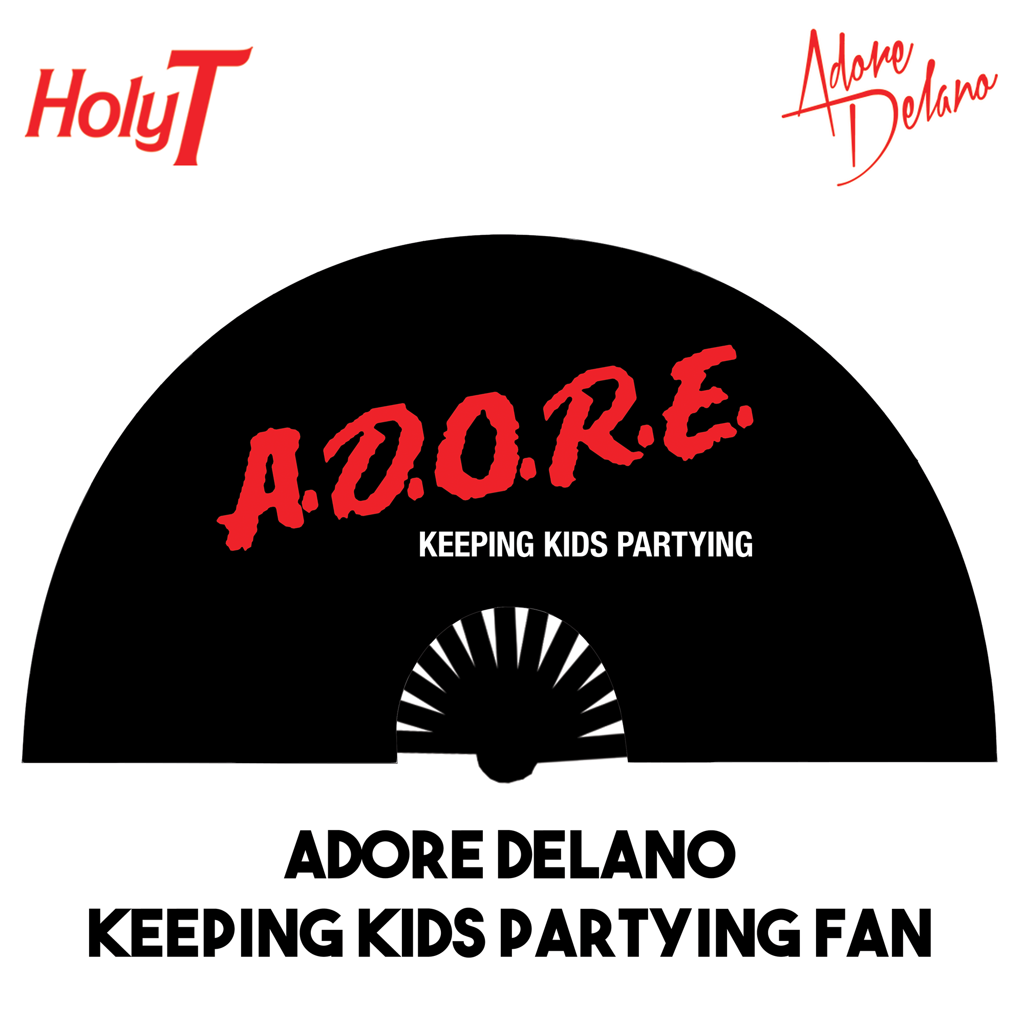 Adore Delano Keeping Kids Partying Large Fan (Black)