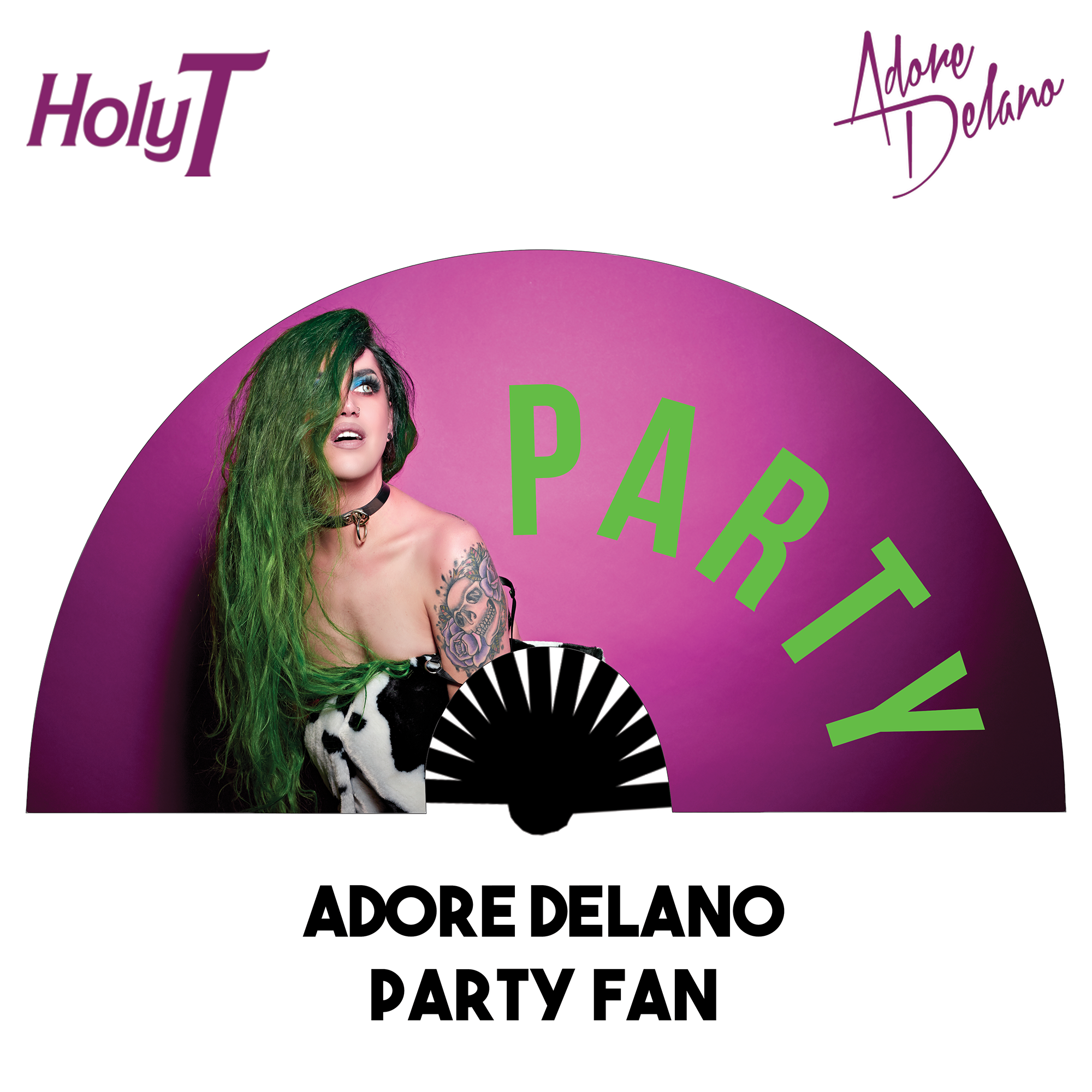 Adore Delano Party Large Fan (Pink)