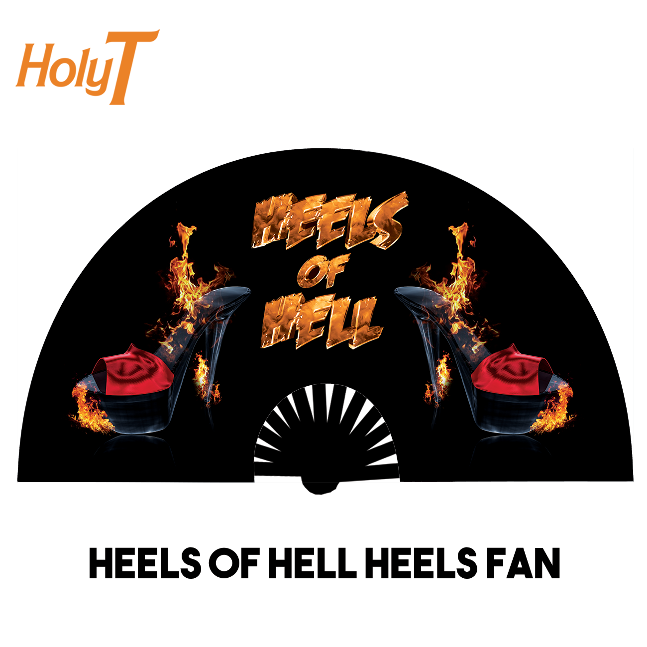 Heels of Hell Heels Large Fan (Black)