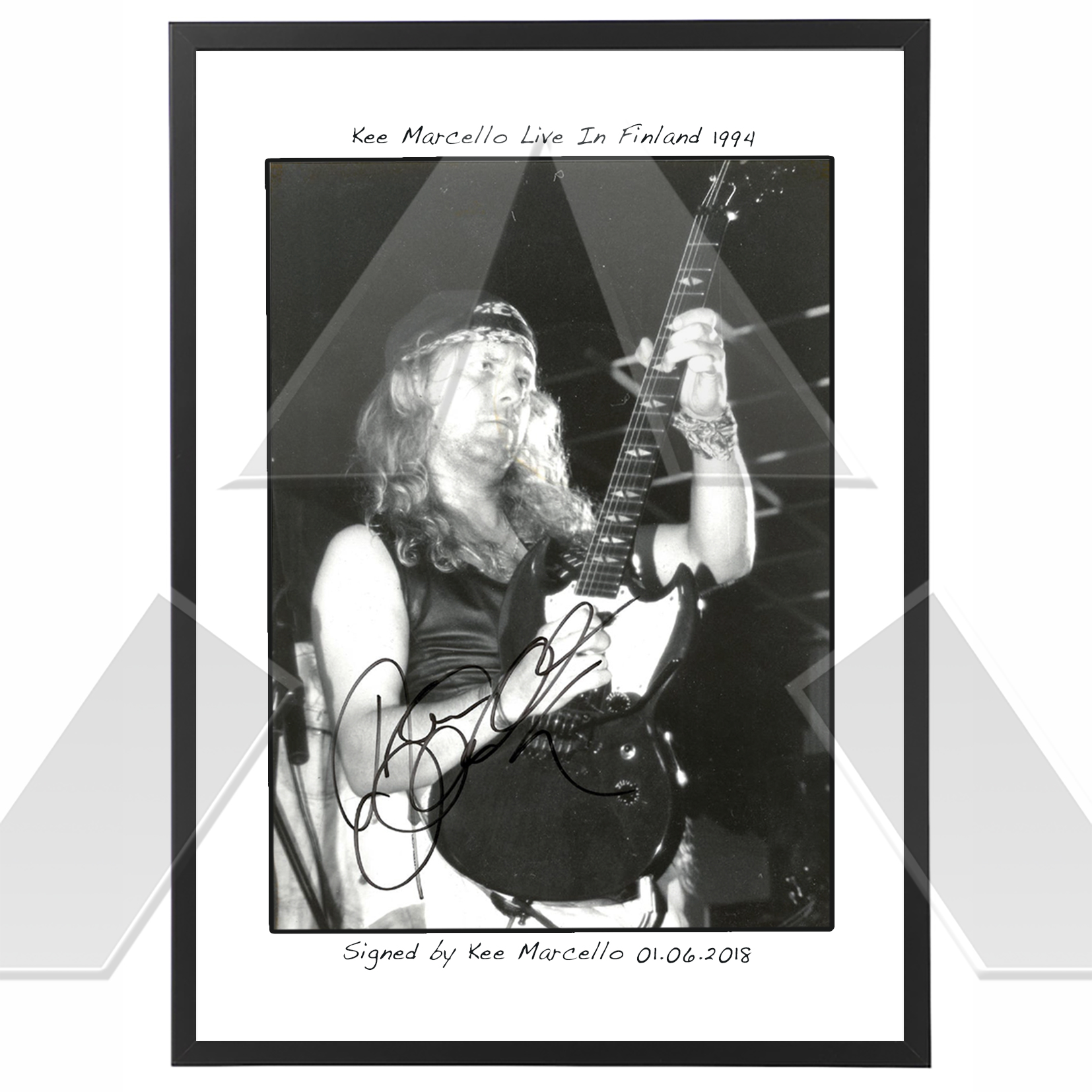 Kee Marcello ★ Red Fun Tour 1994 (photograph signed)