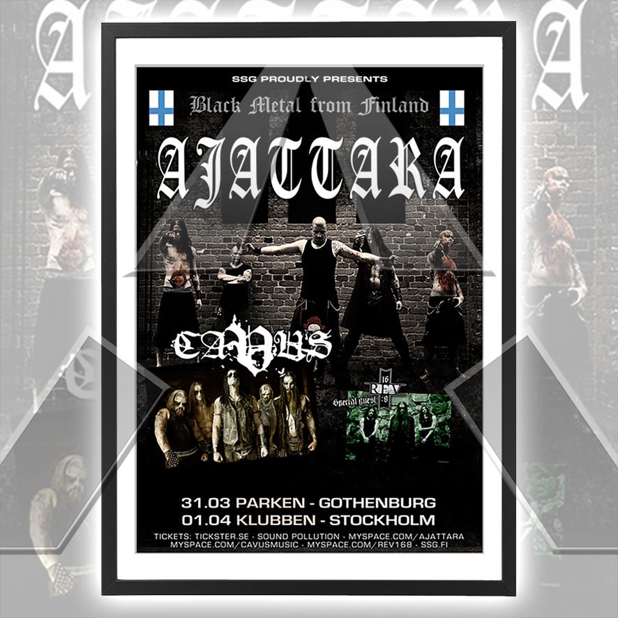 Ajattara ★ Black Metal from Finland 2010  (tour poster - 2 versions)