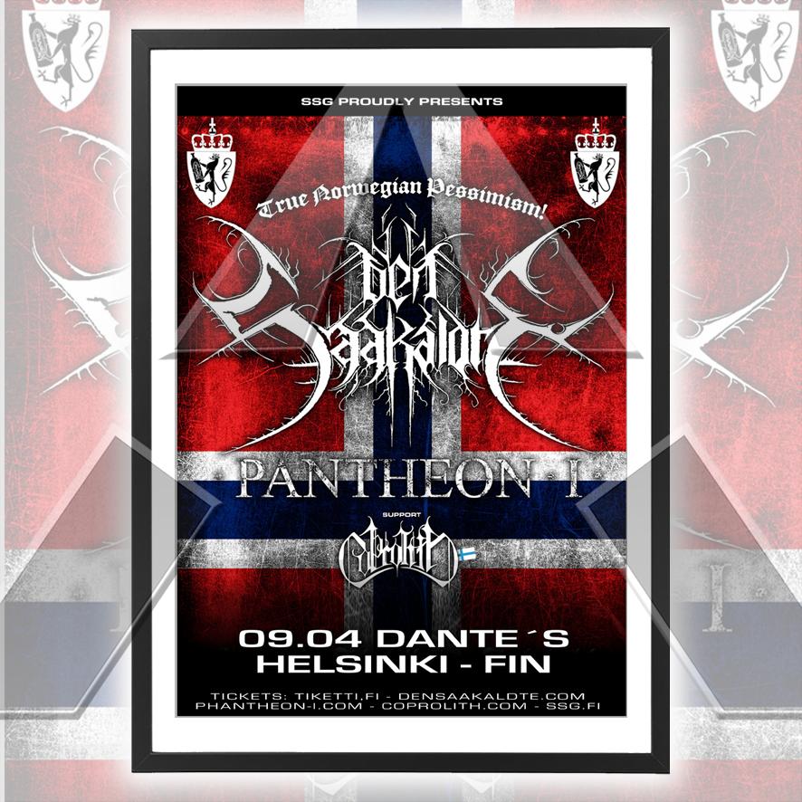 Den Saakaldte ★ Finland 2010 (tour poster - 2 versions)