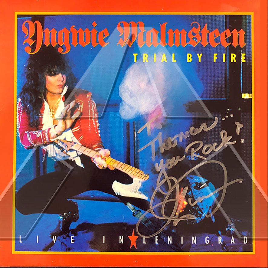 Yngwie Malmsteen ★ Trial by Fire: Live in Leningrad (vinyl album - US 8397261)