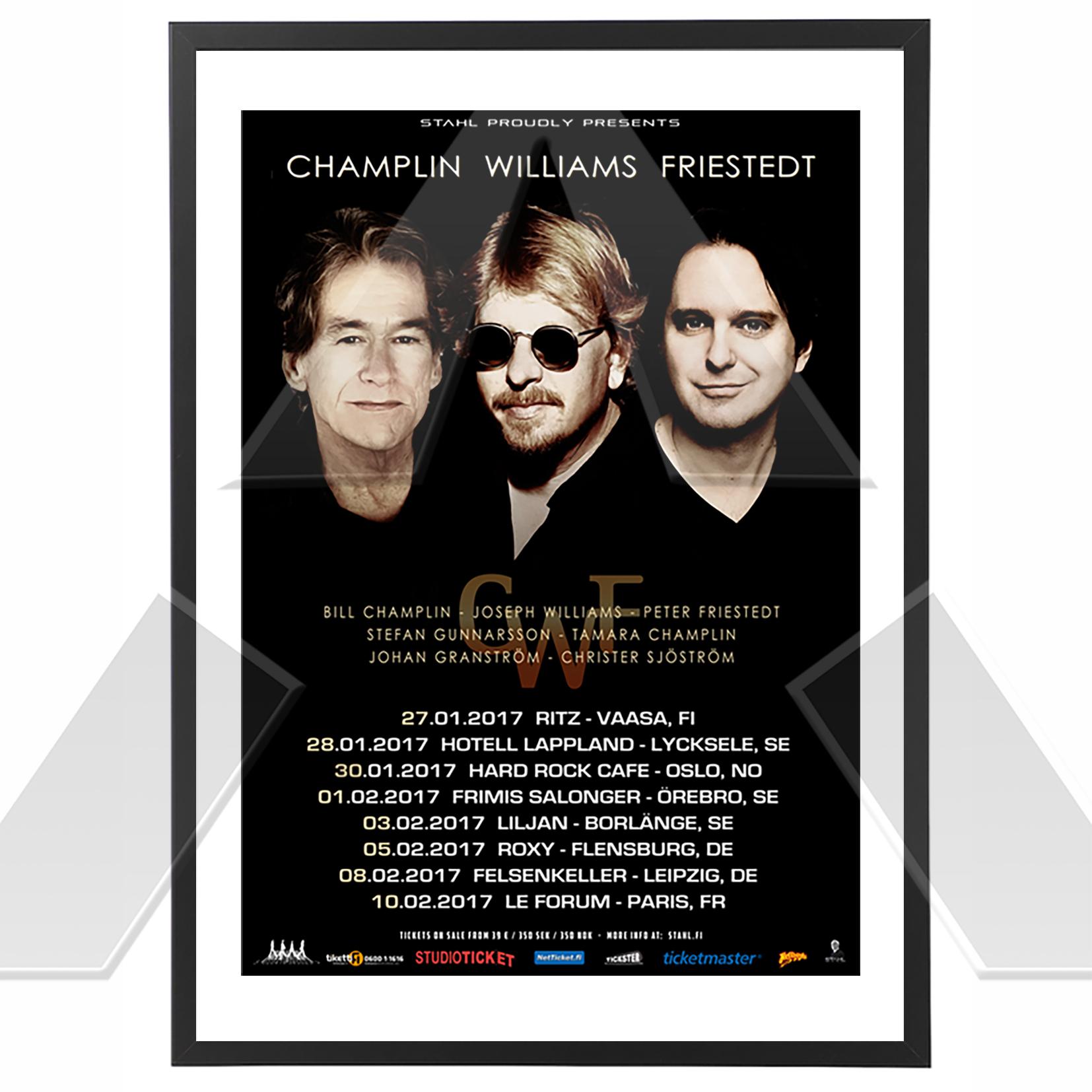 Champlin Williams Friestedt ★ European Tour 2017 (tour poster)