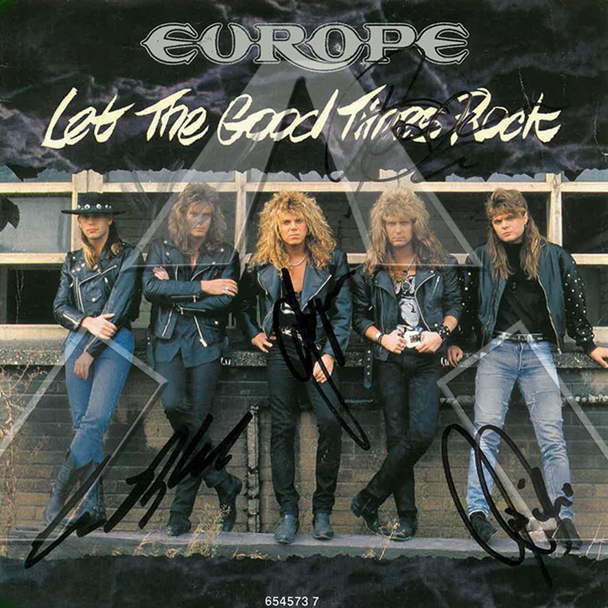 Europe ★ Let the Good Times Rock (vinyl single - 2 versions)