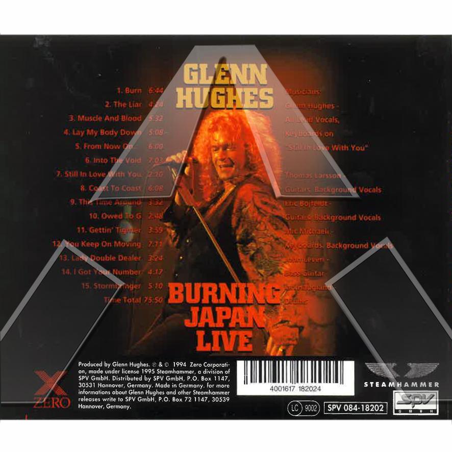 Glenn Hughes ★ Burning Japan Live (cd album EU 08418202 signed)