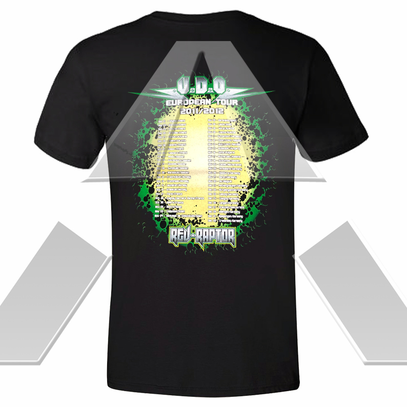 U.D.O. ★ Rev-Raptor European Tour 2012 (t-shirt)