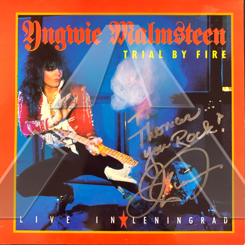Yngwie Malmsteen ★ Trial by Fire: Live in Leningrad (signed vinyl lp)