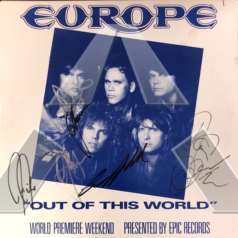 Europe ★ Out of This World (signed promo double vinyl lp album)