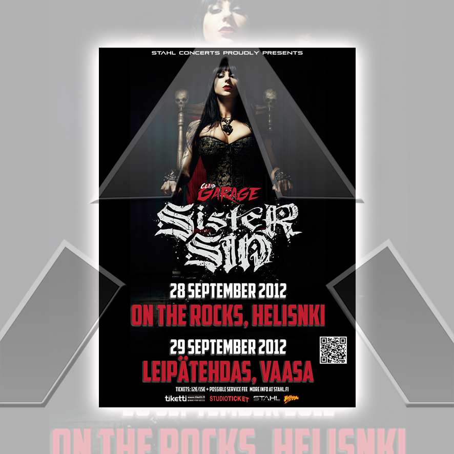 Sister Sin ★ Finland 2012 (tour poster - 2 versions)