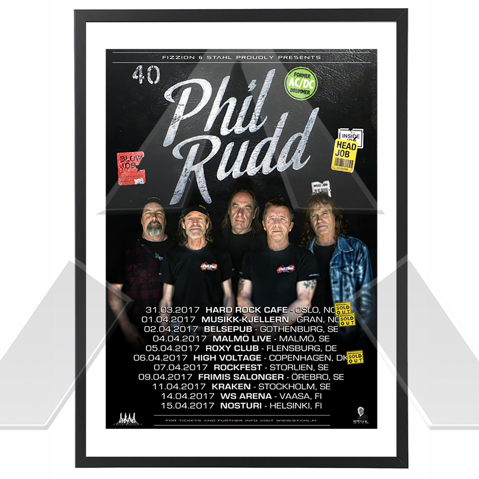 Phil Rudd ★ Back on the Beat Tour 2017 (tour poster)