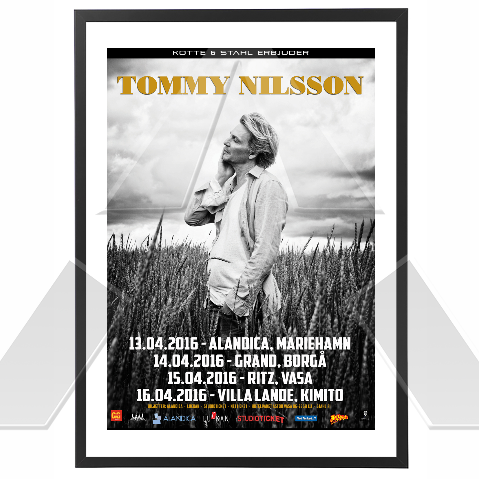 Tommy Nilsson ★ Finland 2016 (tour poster)