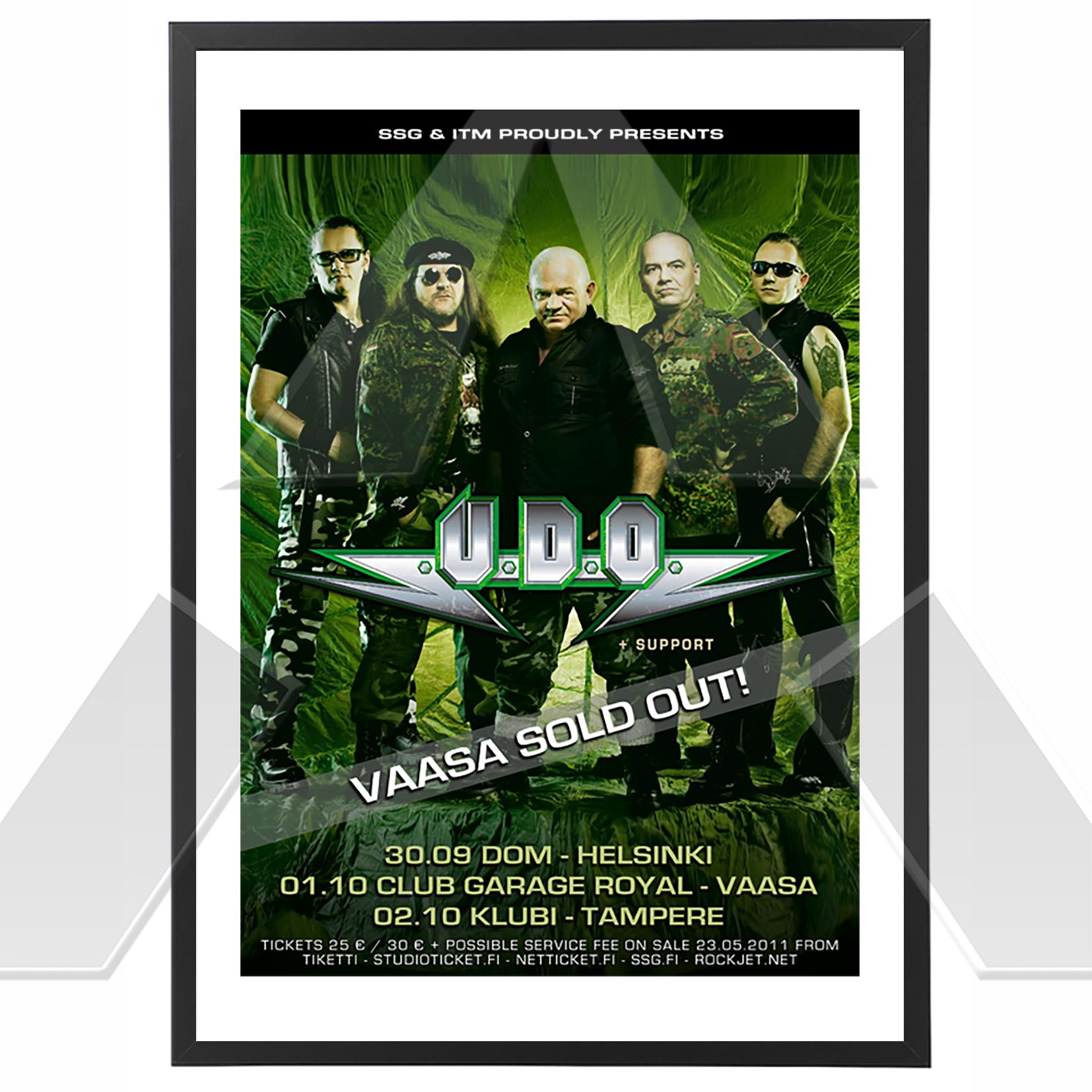 U.D.O. ★ Finland 2011 (tour poster)