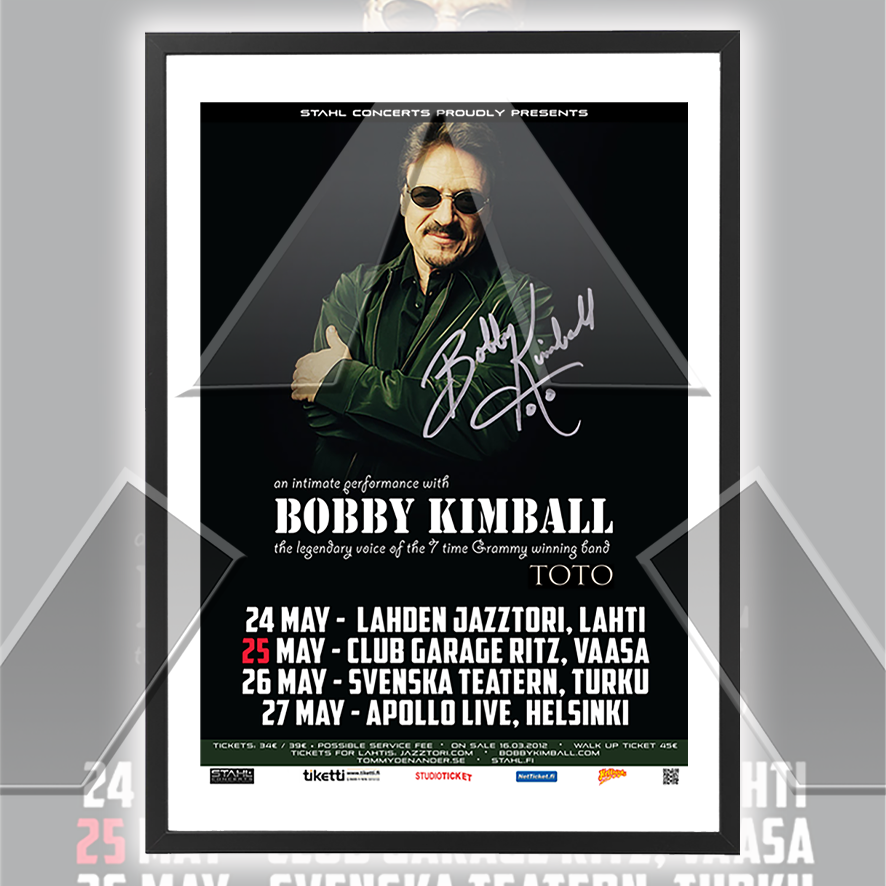 Bobby Kimball ★ An Intimate Performance 2012 (tour poster - 3 versions)