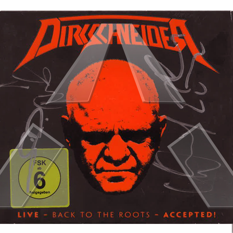 Dirkschneider ★ Live - Back to the Roots - Accepted! (cd album & dvd EU signed)