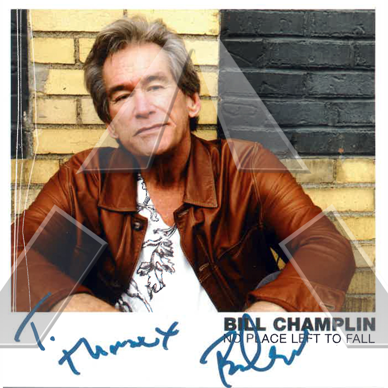 Bill Champlin ★ No Place Left to Fall (cd album & dvd EU signed)