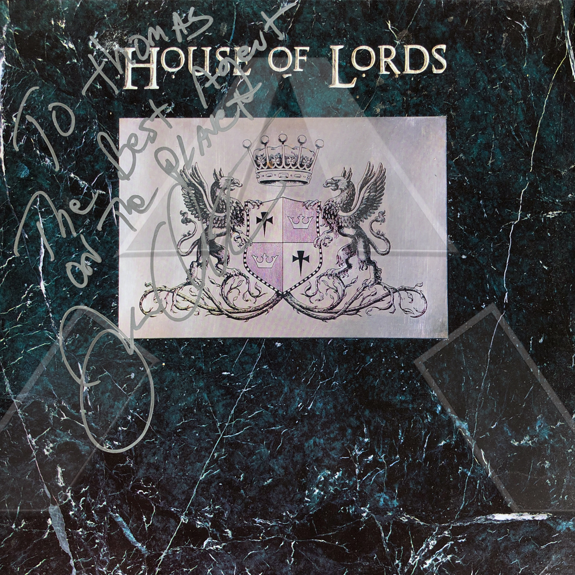 House of Lords ★ House of Lords (vinyl album US signed)