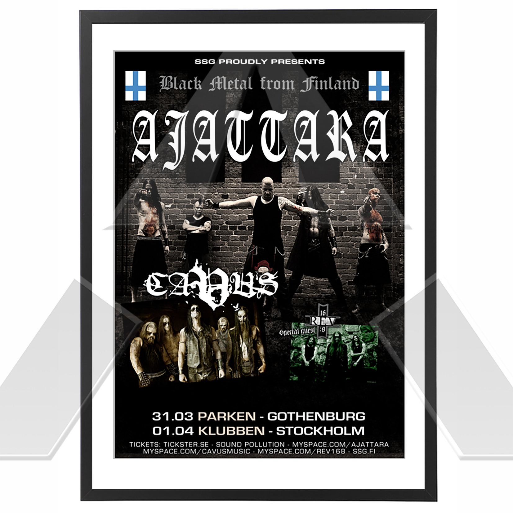 Ajattara ★ Black Metal from Finland 2010  (tour poster)