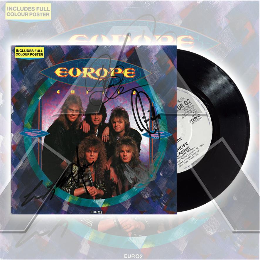 Europe ★ Carrie (vinyl single - UK EURQ2)