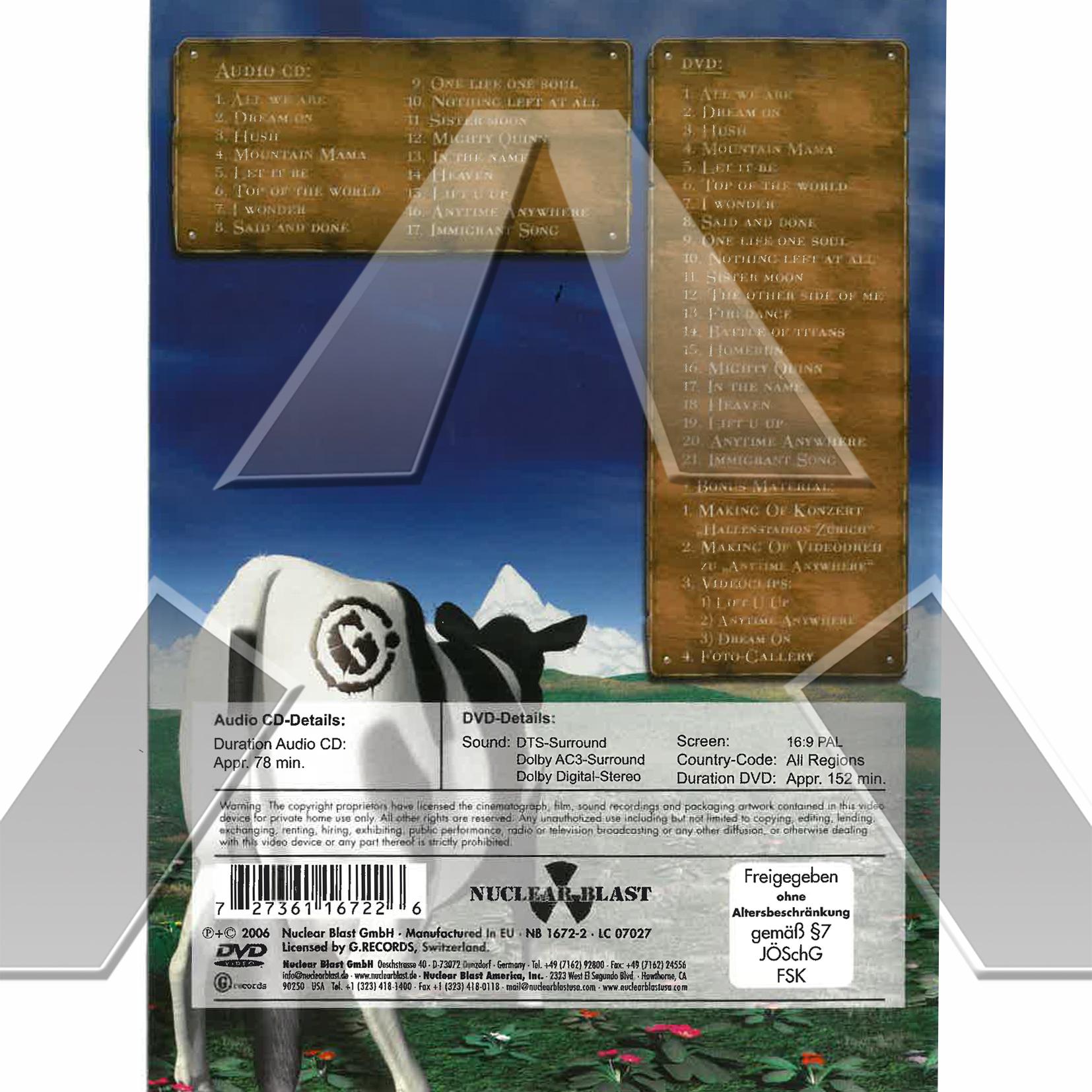 Gotthard ★ Made in Switzerland (cd album & dvd EU 2736116722 signed)