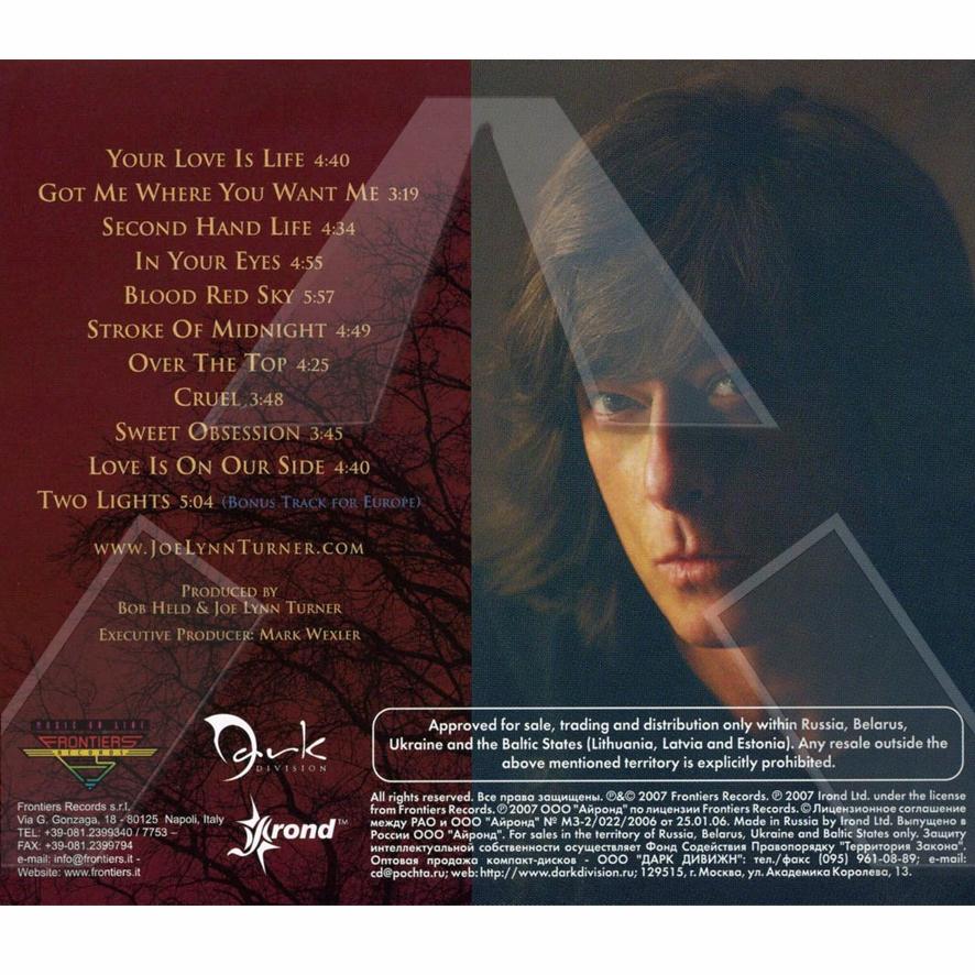 Joe Lynn Turner ★ Second Hand Life (cd album - EU FRCD332)