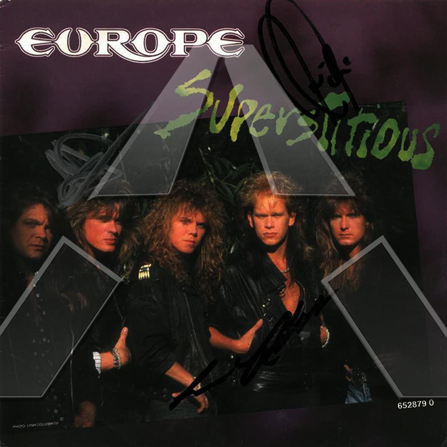 Europe ★ Superstitious (vinyl single - 2 versions)
