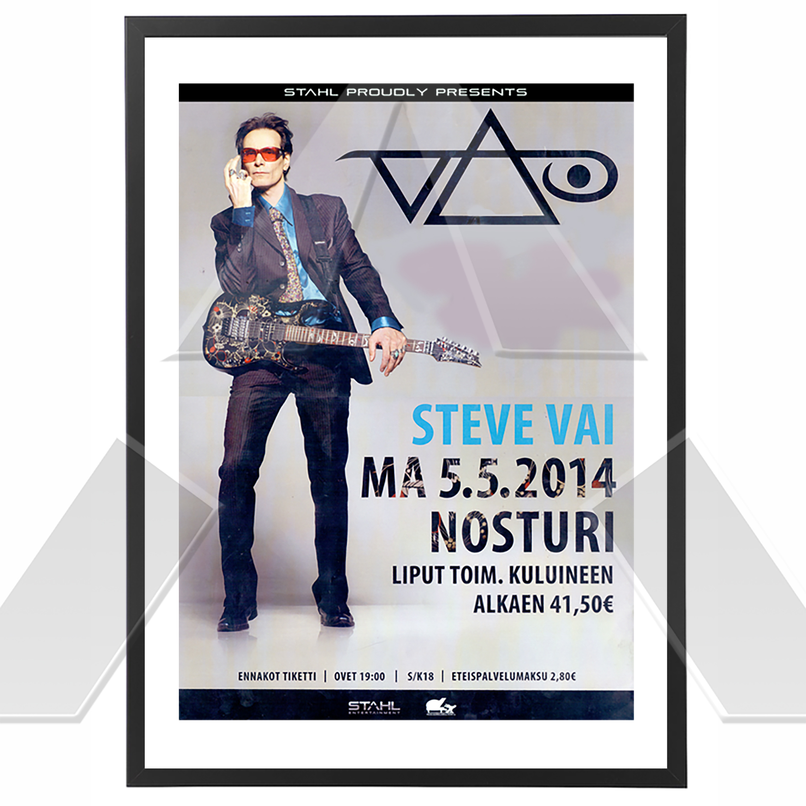 Steve Vai ★ Ray of Light Tour 2014 (tour poster / signed)