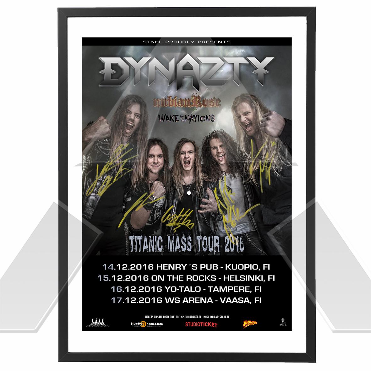 Dynazty ★ Titanic Mass Tour 2016 (tour poster signed)