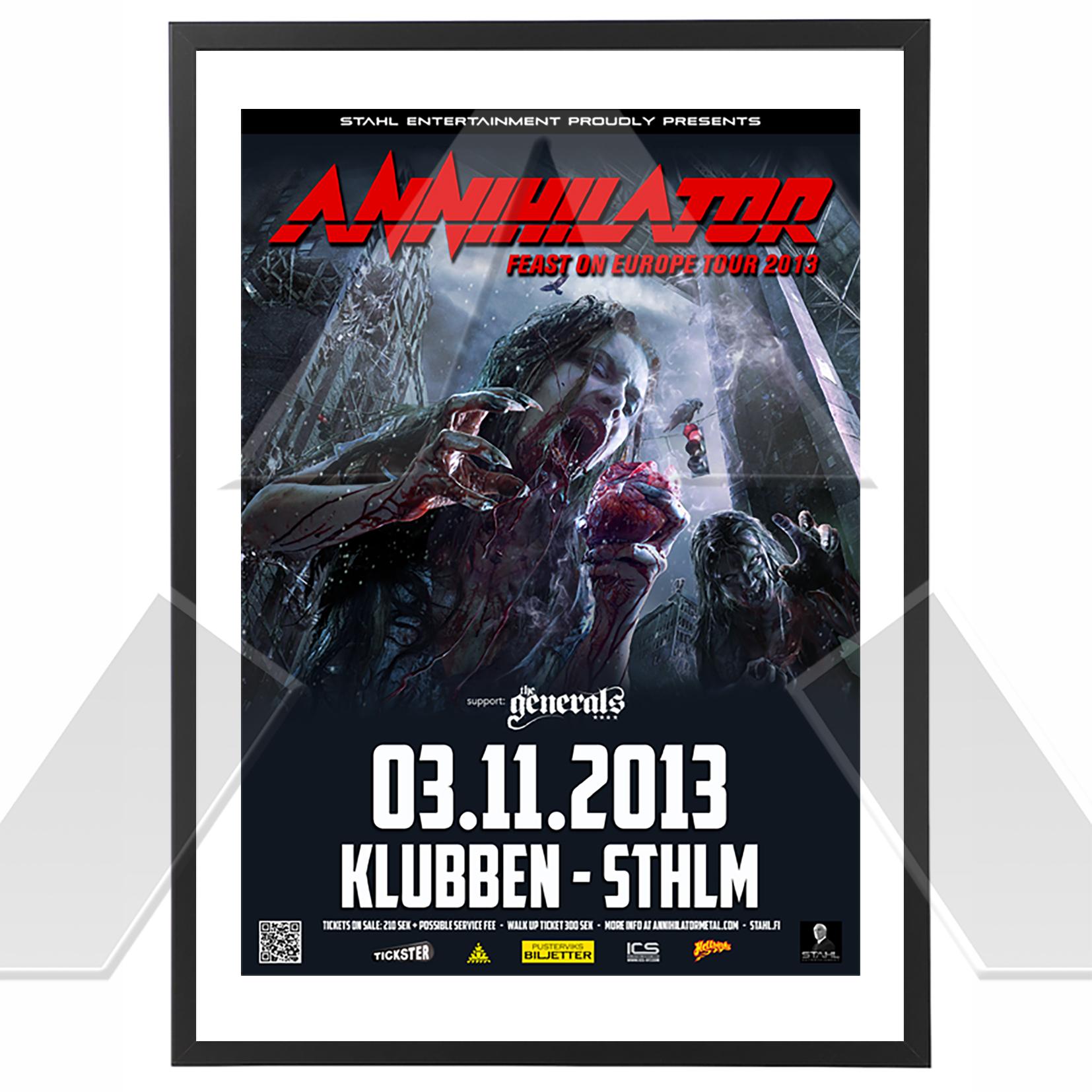 Annihilator ★ Feast on Europe Tour 2013 (tour poster)