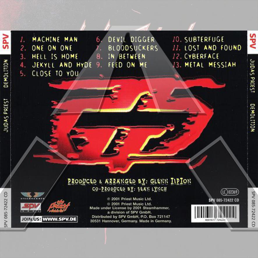 Judas Priest ★ Demolition (cd album - GER SPV08572422CD)