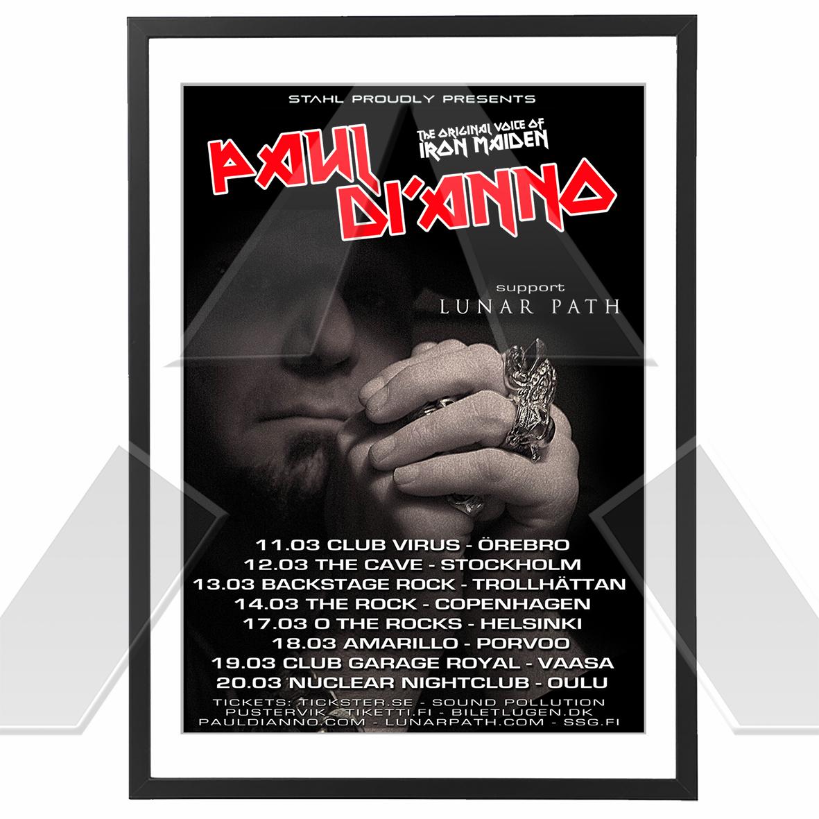 Paul Di'Anno ★ Nordic Tour 2010 (tour poster)