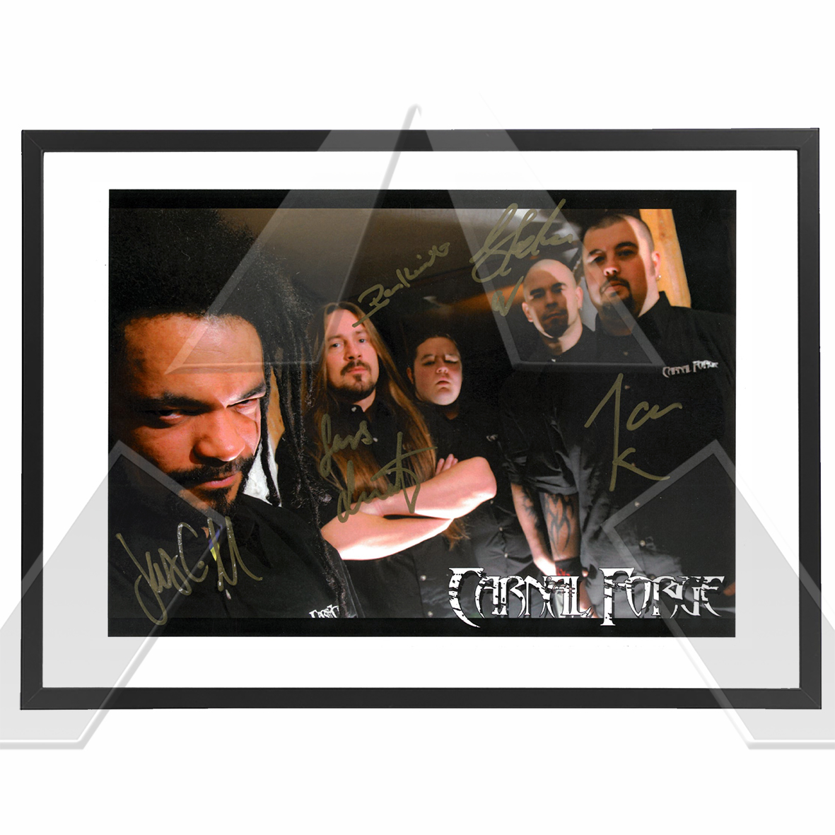 Carnal Forge ★ Testify for my Victims (photograph signed)