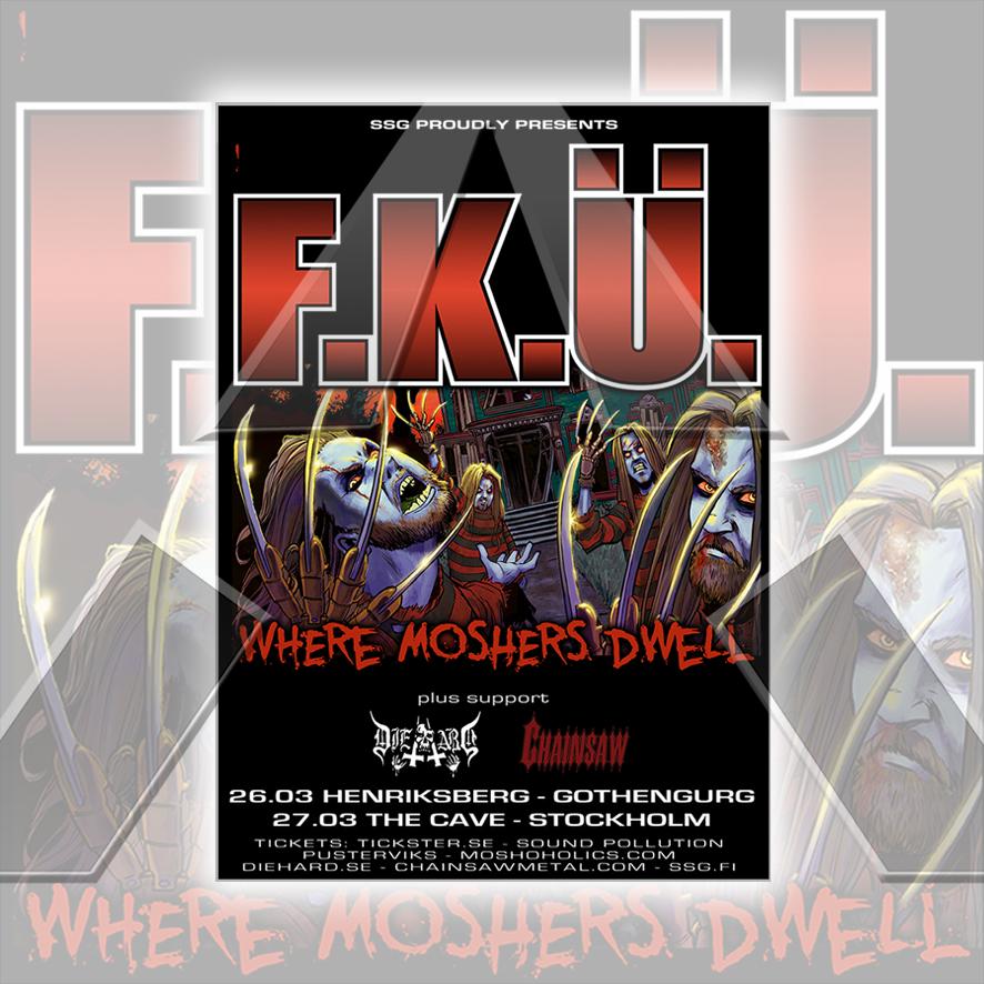 F.K.U. ★ Sweden 2010 (tour poster - 2 versions)