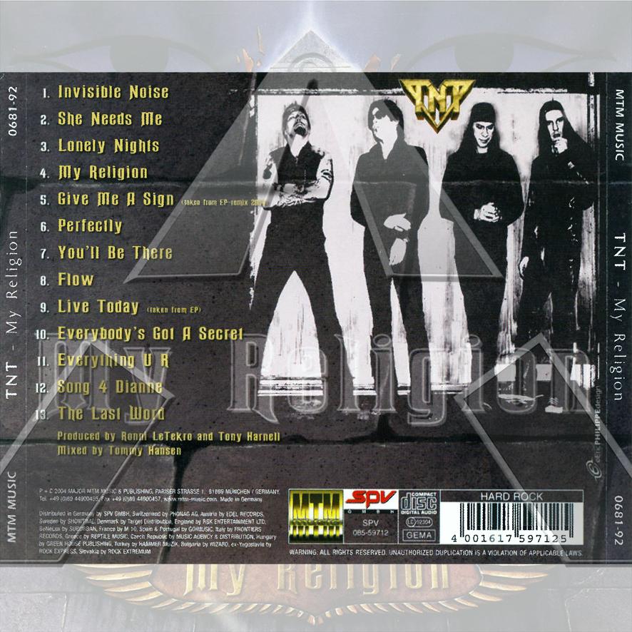 TNT ★ My Religion (cd album - EU 068192)