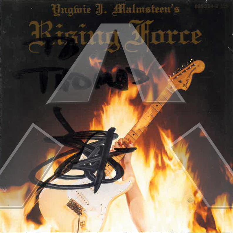 Yngwie Malmsteen ★ Rising Force (signed cd album)