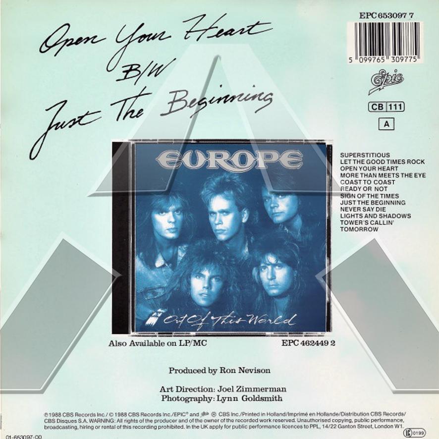 Europe ★ Open Your Heart (vinyl single - EU 6530977)