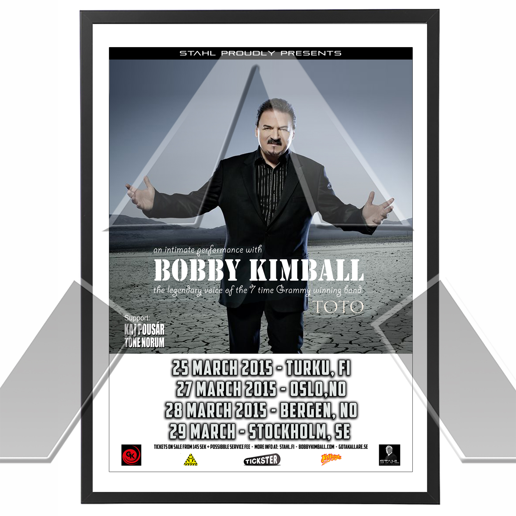 Bobby Kimball ★ An Intimate Performance 2015 (tour poster / signed)
