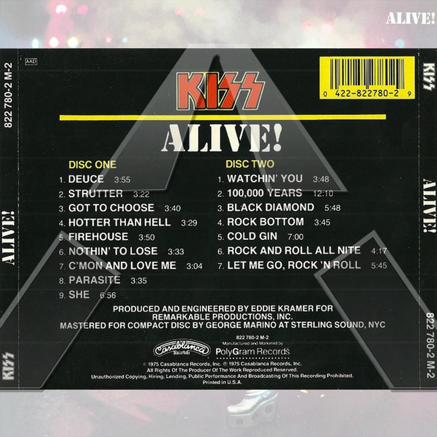 Kiss ★ Alive! (cd album - EU 8227802M2)