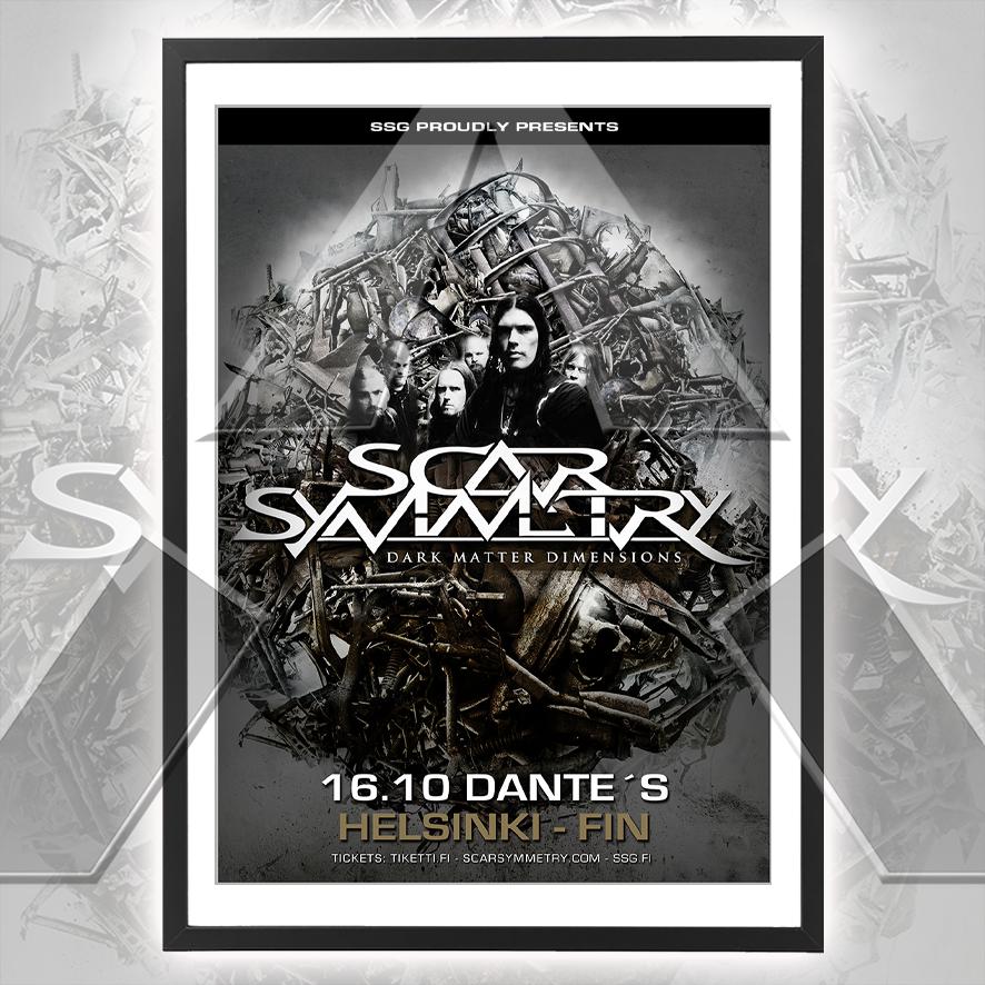 Scar Symmetry ★ Finland 2010 (tour poster - 2 versions)