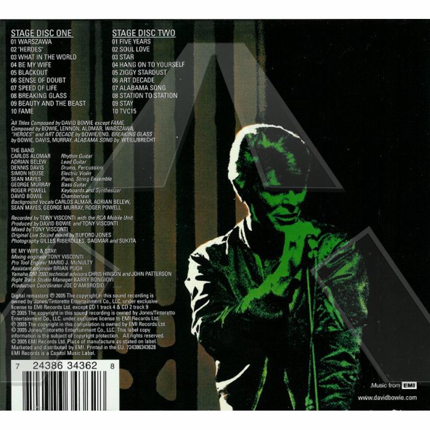 David Bowie ★ Stage (album EU 094631125126)