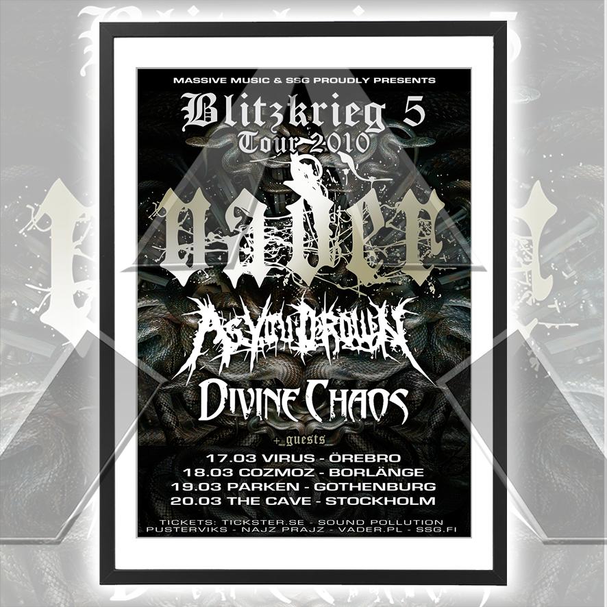 Vader ★ Blitzkrieg 5 Tour Sweden 2010 (tour poster - 2 versions)