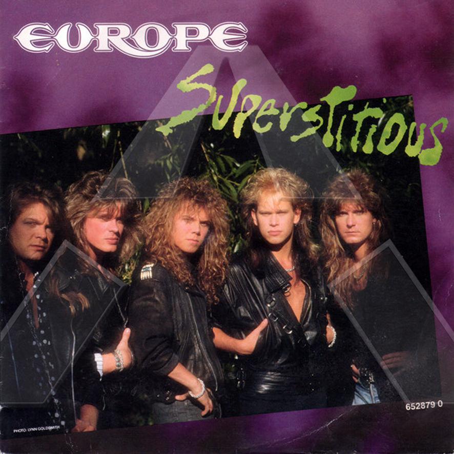Europe ★ Superstitious (vinyl single EU)