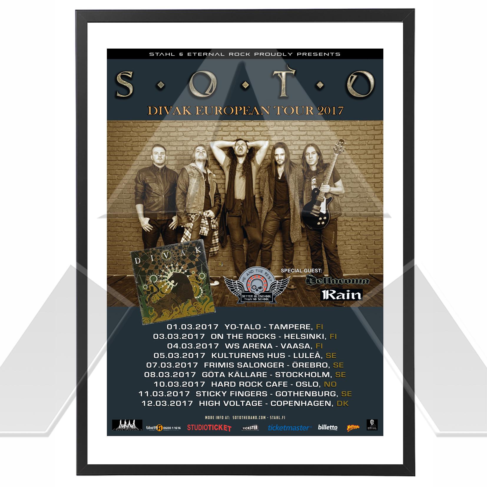 S.O.T.O ★ Divak European Tour 2017 (tour poster)
