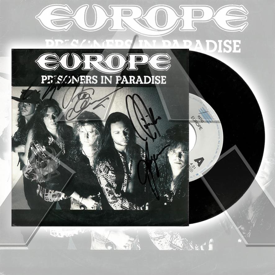 Europe ★ Prisoners in Paradise (vinyl single - 2 versions)
