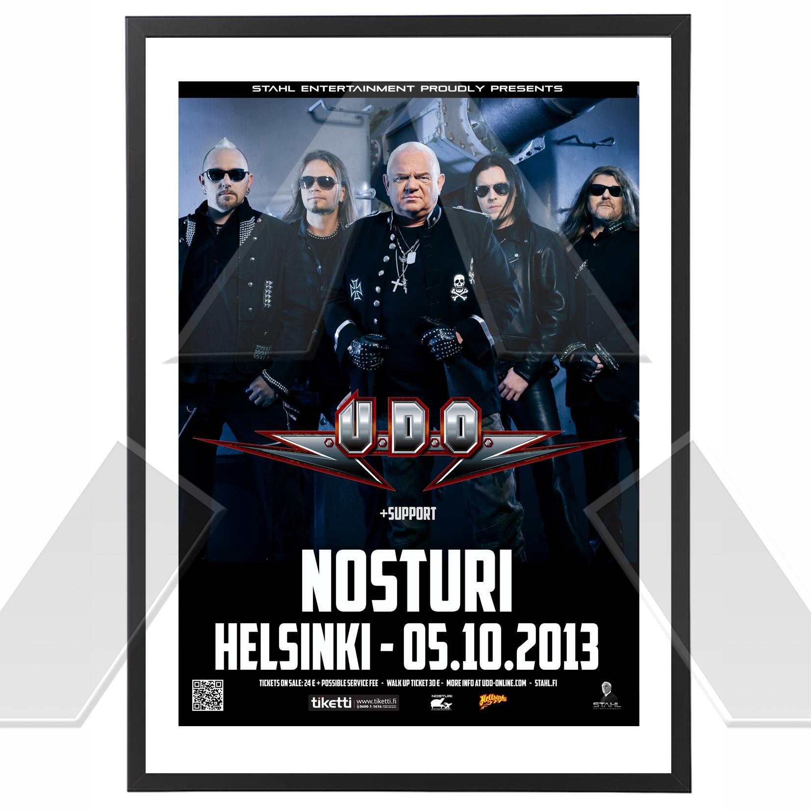 U.D.O. ★ Finland 2013 (tour poster)
