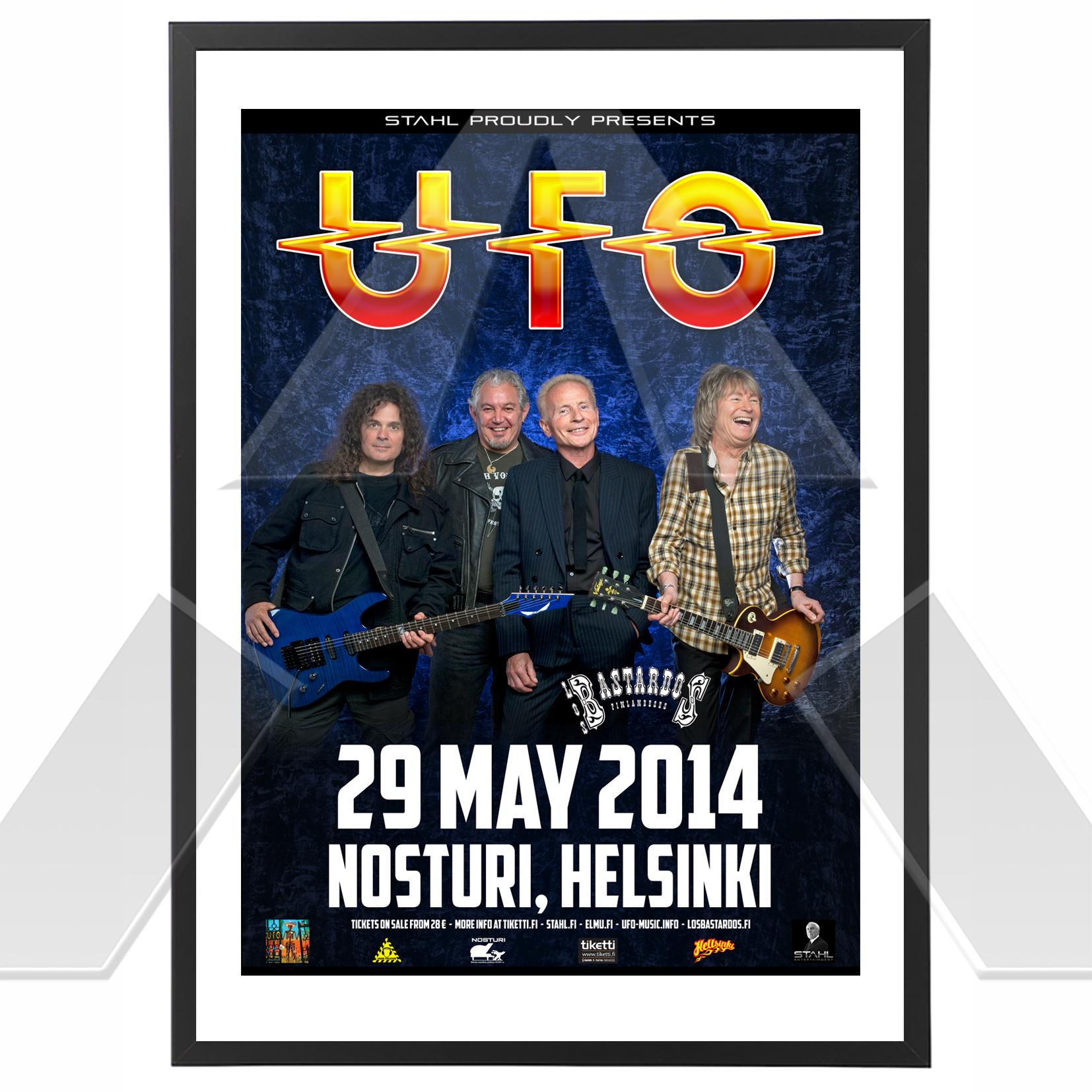 UFO ★ Seven Deadly Tour 2014 (tour poster)