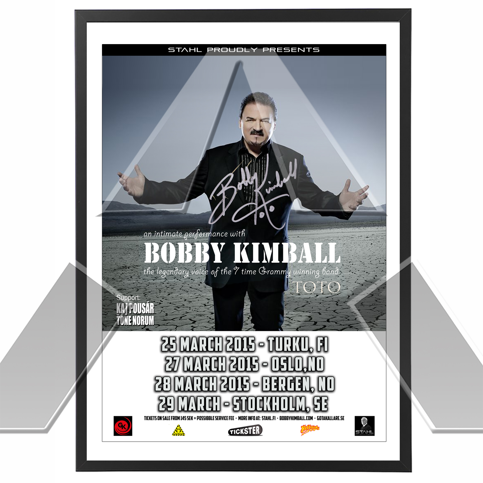 Bobby Kimball ★ An Intimate Performance 2015 (tour poster signed)