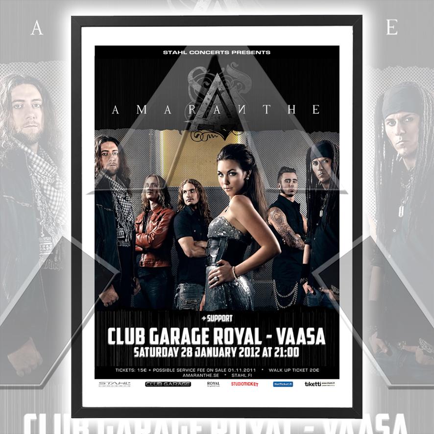 Amaranthe ★ Finland 2012 (tour poster - 2 versions)