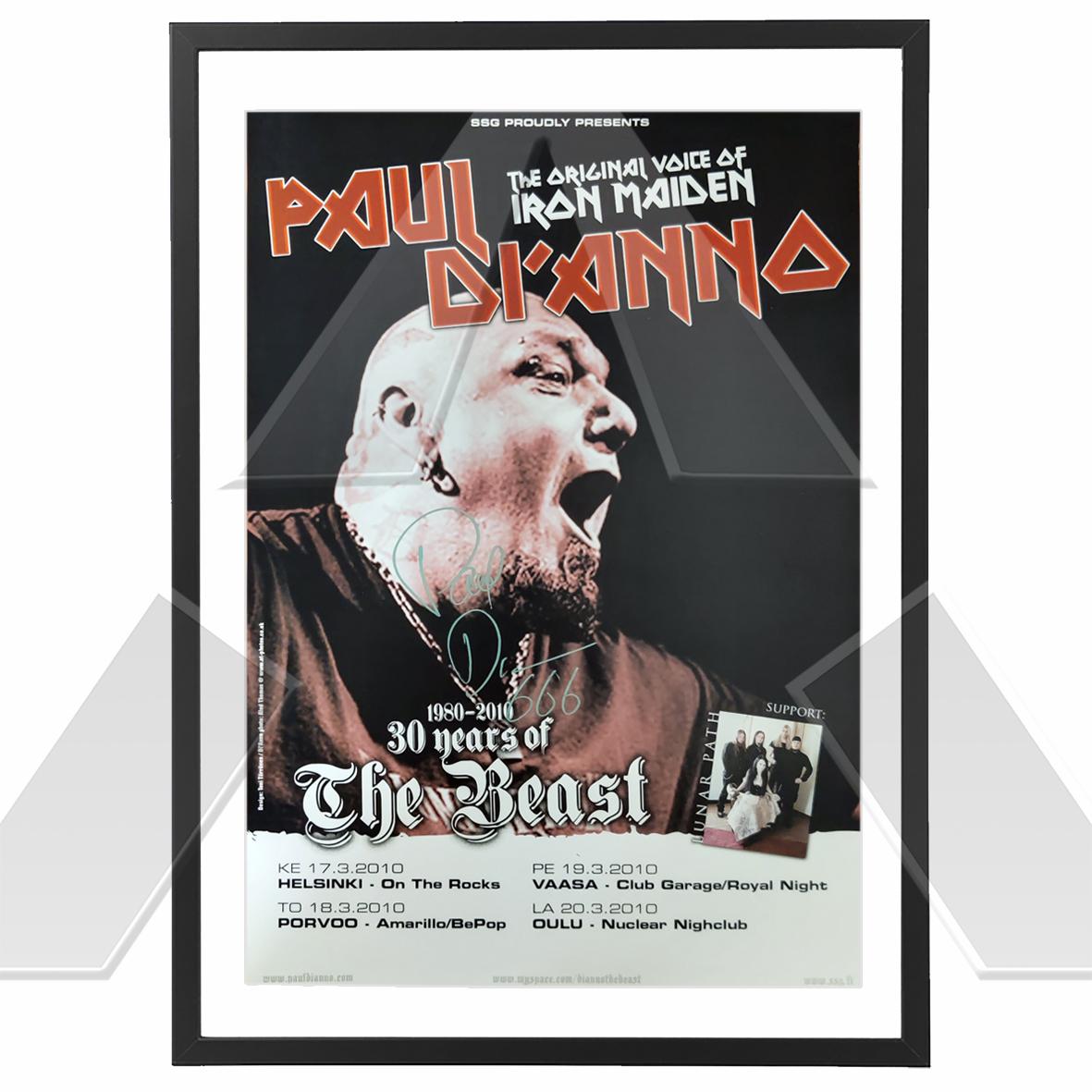Paul Di'Anno ★ Nordic Tour 2010 (tour poster signed)