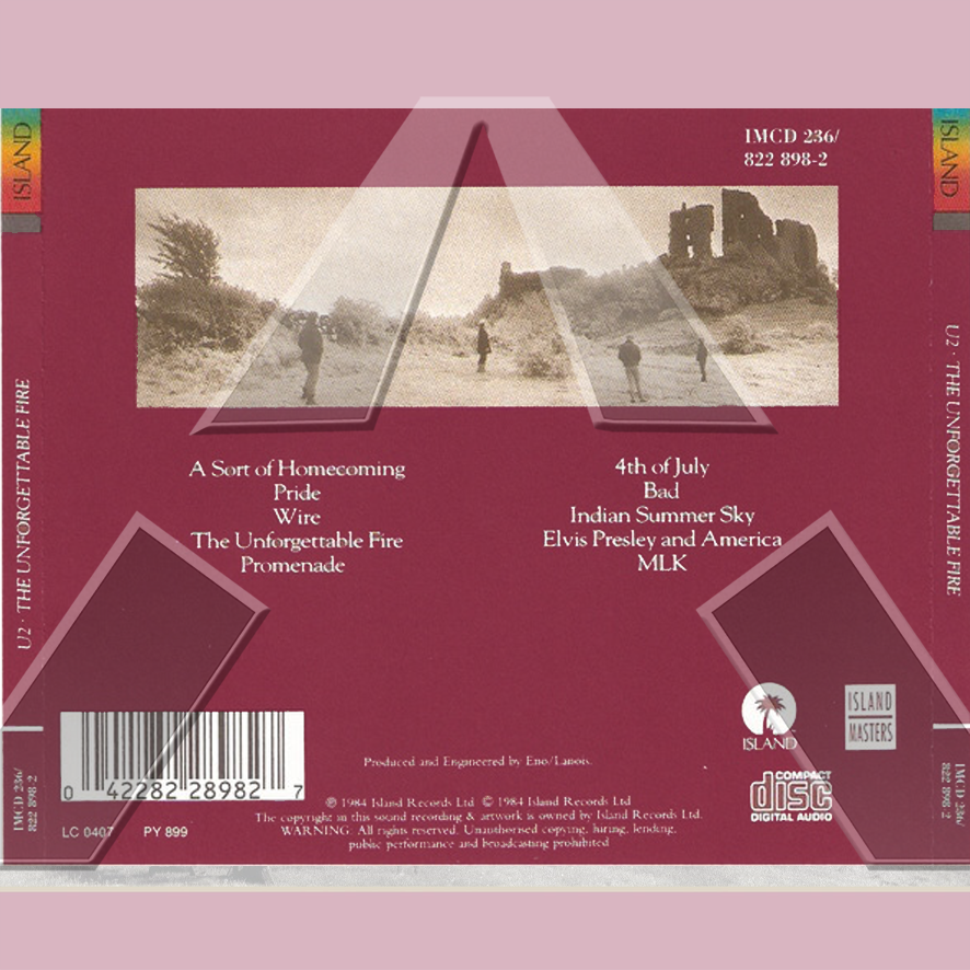 U2 ★ The Unforgettable Fire (cd album - EU 8228982)
